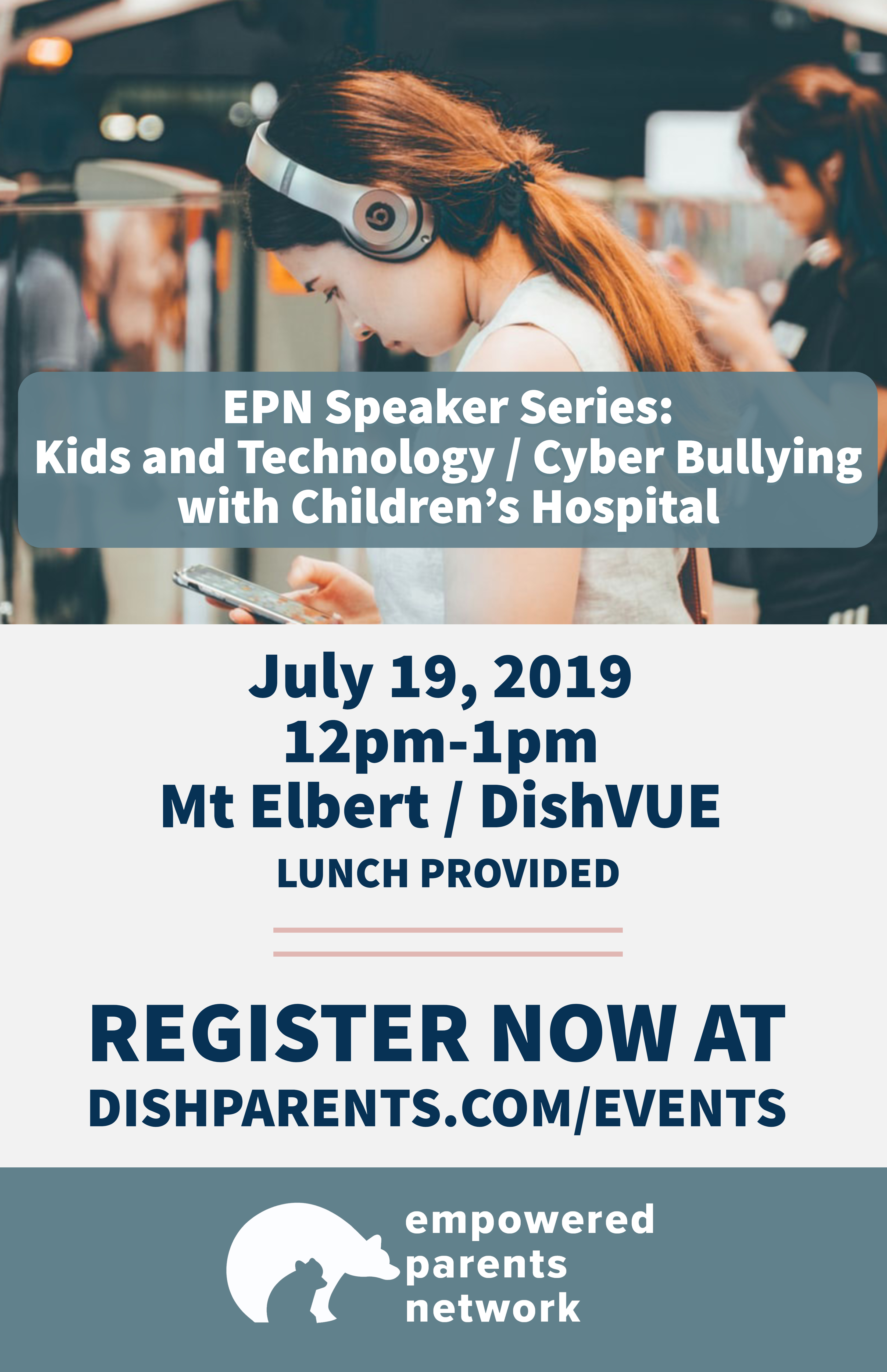 Speaker – Kids and Technology / Cyber Bullying with Children's Hospital